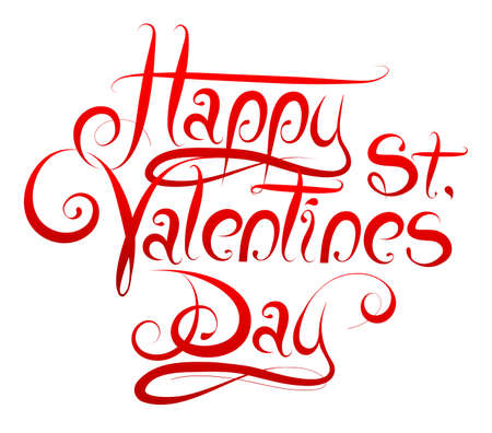 saint valentine's day: Calligrapgy greetings for Saint Valentines Day