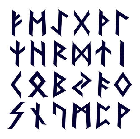 古代ケルトのルーン文字の完全なアルファベットのセット  イラスト・ベクター素材