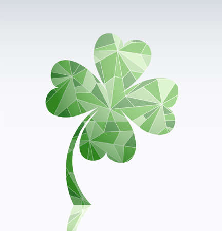 saint patrick's day: Clover as symbol of luck and emblem for Saint Patricks Day Illustration