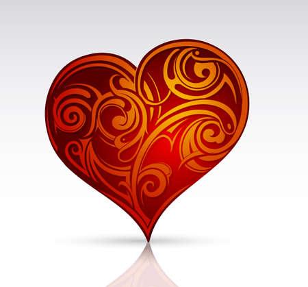 vector hearts: Heart shape as design element.