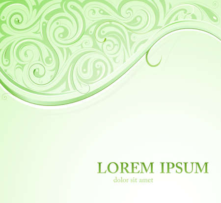 copy space: Backdrop with ornamental swirls and copy space Illustration