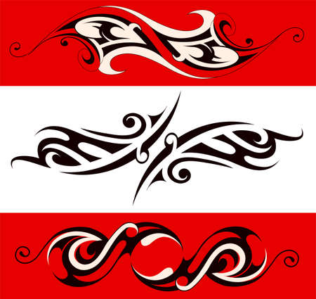 Vector illustration with set of various ethnic ornaments