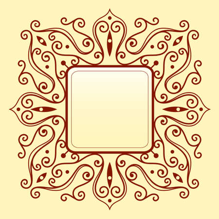 space   area: Vector illustration with elegant frame ornament with copy space area