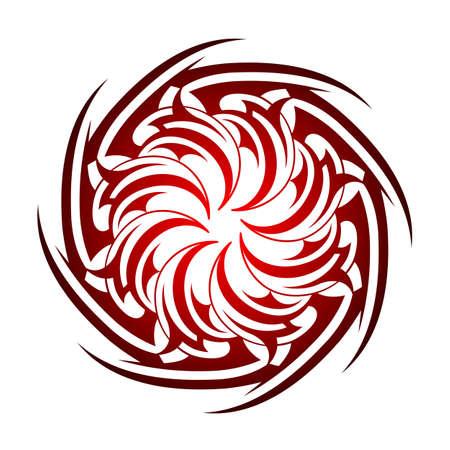 celtic symbols: Tribal tattoo circle shape isolated on white