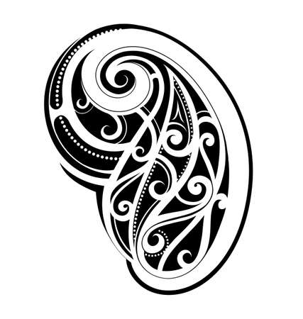 Arm tattoo Maori descent isolated on white Illustration