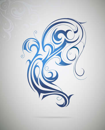 creative beauty: Vector illustration for water swirls as graphic design element
