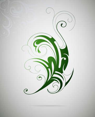 florish: Vector illustration for floral swirls as graphic design element Illustration