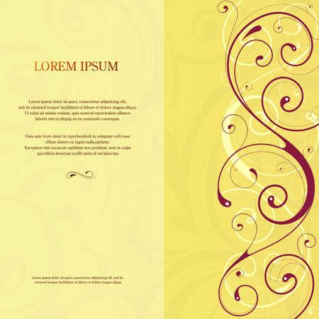 carte invitation: Carton d'invitation mod�le de conception avec l'ornement d�coratif de c�t�. EPS-10 Illustration
