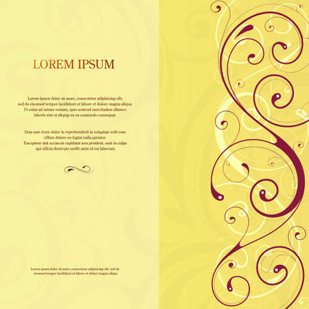 invitation card: Invitation card template design with decorative side ornament. EPS-10
