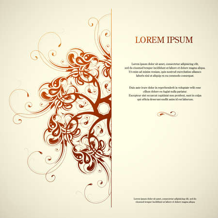 space   area: Invitation card design with orient elements and copy space area