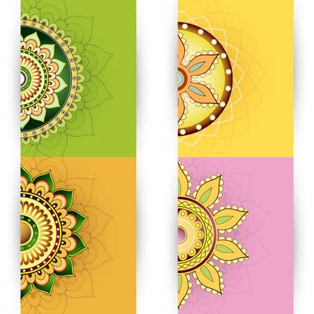 illustration invitation: Vector illustration with invitation card templates set