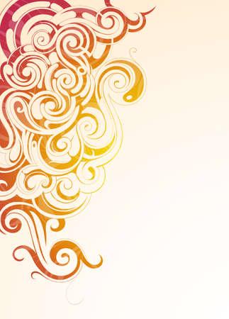 humo: Humo de colores con adornos �tnicos en la superficie y el espacio de la copia en fondo Vectores