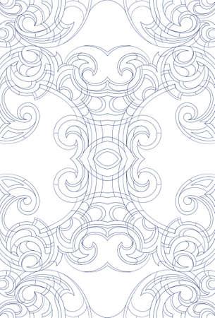 jugendstil: Creative background ornament in Art Nouveau style Illustration