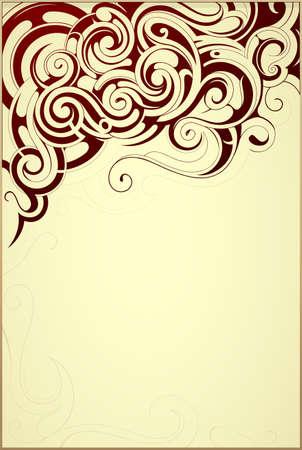 frame border: Vintage style decorative frame border with ethnic elements