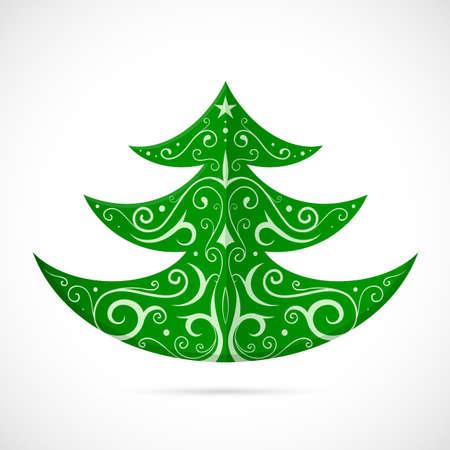 tree symbol: Christmas tree ornamental as winter holidays symbol