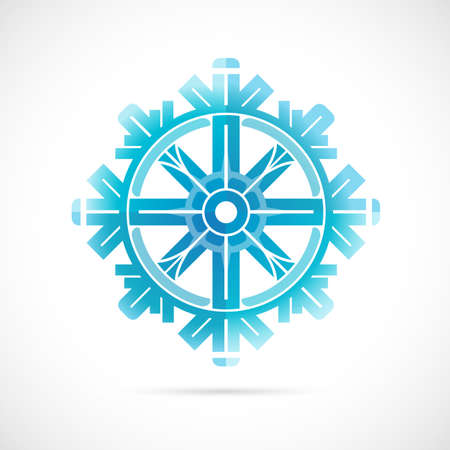 winter holidays: Decorative snowflake shape as winter holidays symbol Illustration
