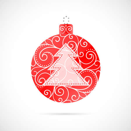christmas isolated: Christmas decoration as symbol for winter holidays