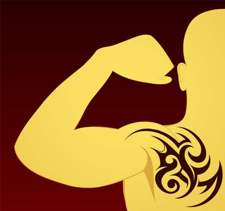 keltische muster: Tattoo am Arm und Brust
