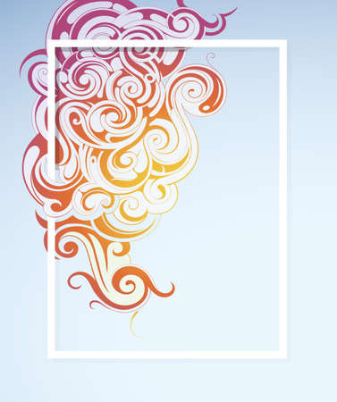 etnic: Colorful smoke as liquid swirled ornament with etnic elements Illustration
