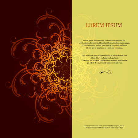 orient: Invitation card design with orient elements and copy space
