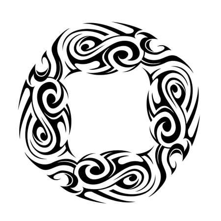 maori: Vector illustration for Maori ethnic tattoo template