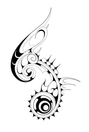 tribales: La fusión de gótico y maorí tatuaje estilo