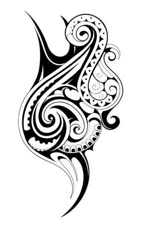 tattoo arm: Vector illustration for Maori ethnic tattoo template