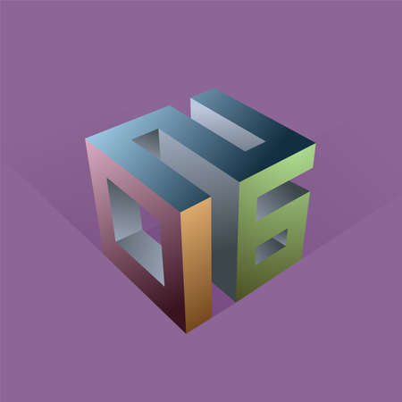 3d design element: Creative 3D design element for year 2016