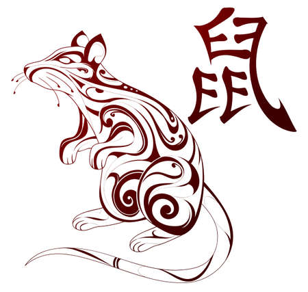 rat: Ornamental rat figure as Chinese zodiac sign