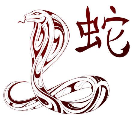 Ornamental snake figure as Chinese zodiac sign