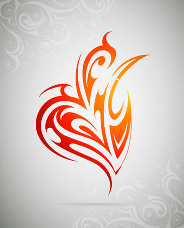 swash: Decorative design element. Liquid style tattoo shape Illustration