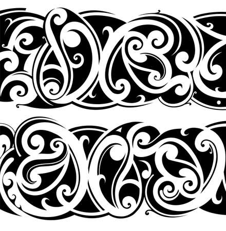 maori: Maori ethnic tattoo fusion with celtic style