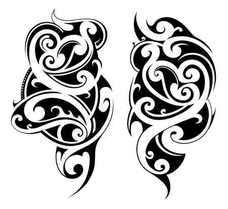 arm tattoo: Creative tattoo set in Maori ethnic style
