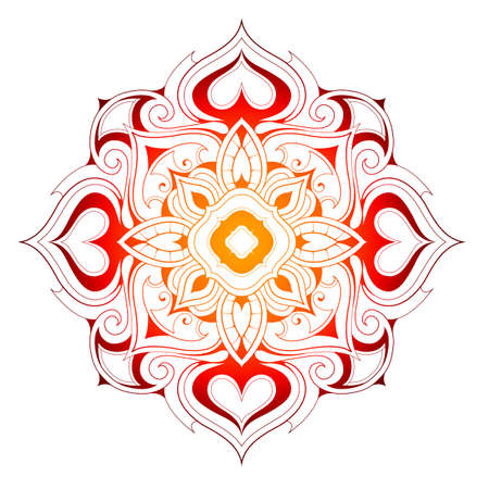 orient: Mandala shape with elegant floral elements in orient style