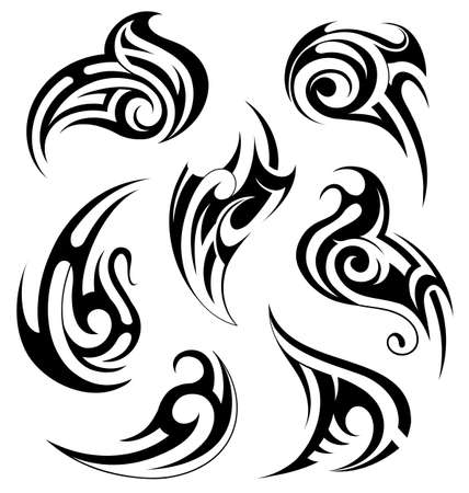 gothic style: Tribal tattoo design. Celtic and Gothic style