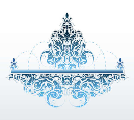 Decorative fountain shape with elegant orient style swirls on its surface