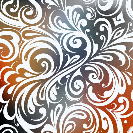 graphic pattern: Elegant floral ornament suitable for greeting card designs
