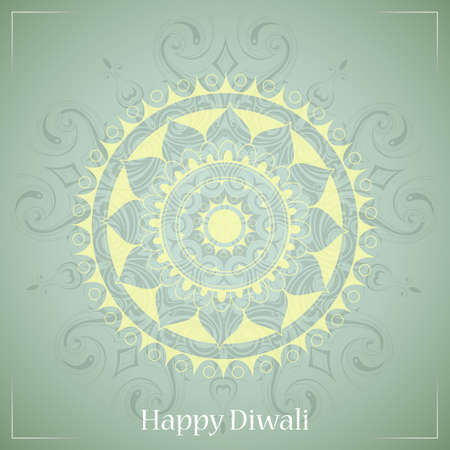 decor graphic: Diwali festival greeting card design with ethnic ornament