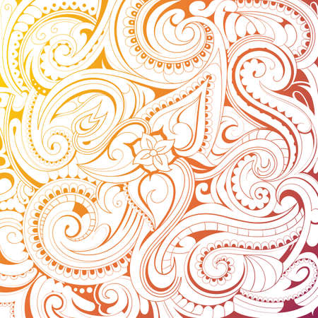 ornaments floral: Coloring book pattern with floral ornaments on white