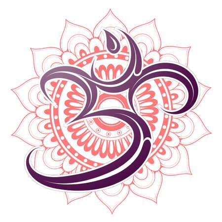 Om symbol with mandala Illustration