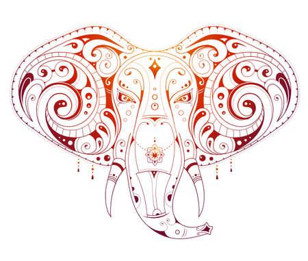 elephant head: Elephant head ornamental