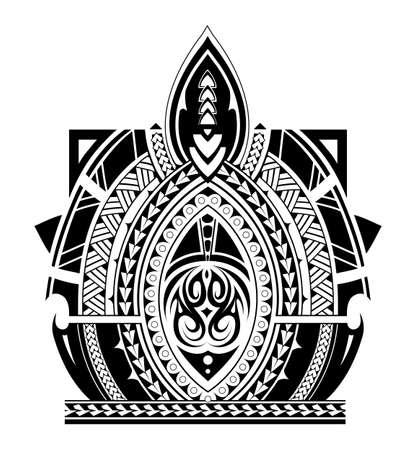 Maori-stijl tattoo ontwerp voor de mouw gebied Stock Illustratie