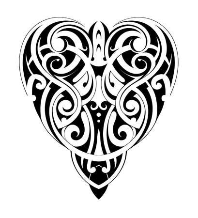 forme: Maori style heart shape.