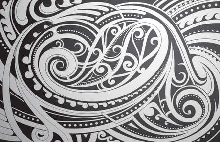 estilo del ornamento étnico maorí como telón de fondo el tema