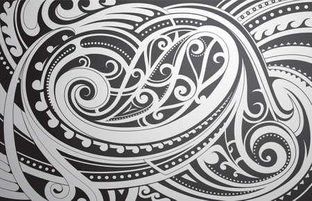 Ethnische Verzierung der Maori-Art als Hintergrundthema Standard-Bild - 71943004