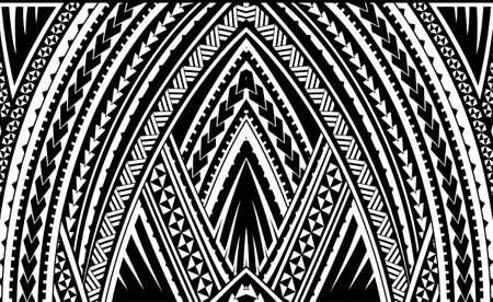 Ornamento tribal de Samoa Ilustración de vector