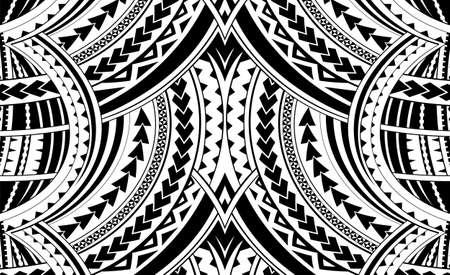 サモア スタイルの飾り。スリーブのタトゥーの良い