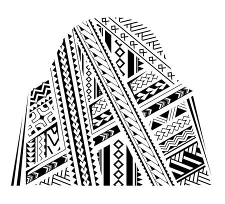 Samoa style ornament. Good for bicep and sleeve tattoo Illustration