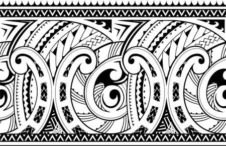 Maori style ornament. Good for seamless sleeve tattoo Illustration