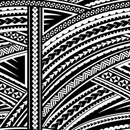 Maori stijl tribal design. Naadloze achtergrond ornament Stock Illustratie